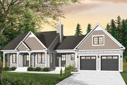 Country Style House Plan - 3 Beds 2 Baths 1432 Sq/Ft Plan #23-2463 Exterior - Front Elevation