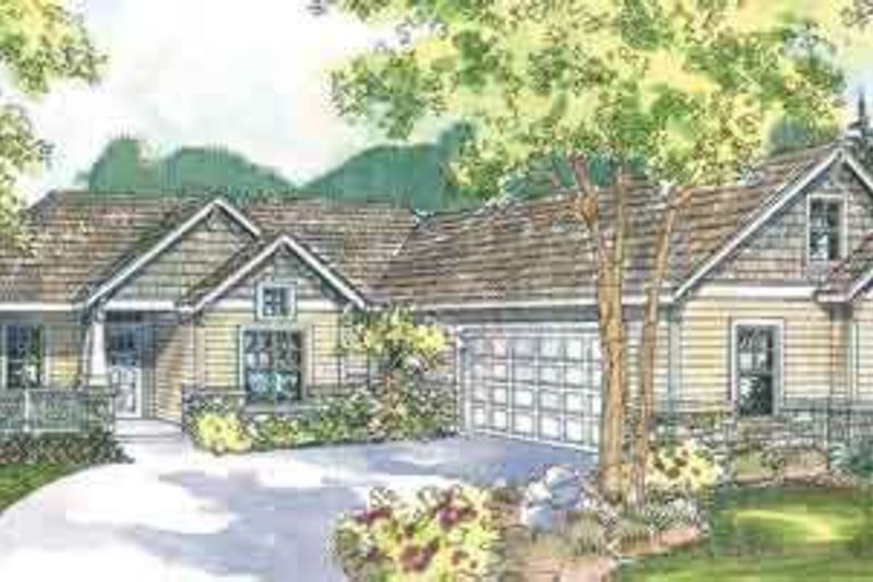 Craftsman Exterior - Front Elevation Plan #124-532 - Houseplans.com