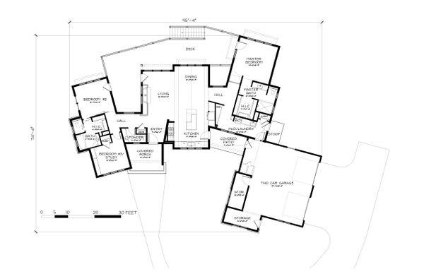 Architectural House Design - Ranch Floor Plan - Main Floor Plan #895-117