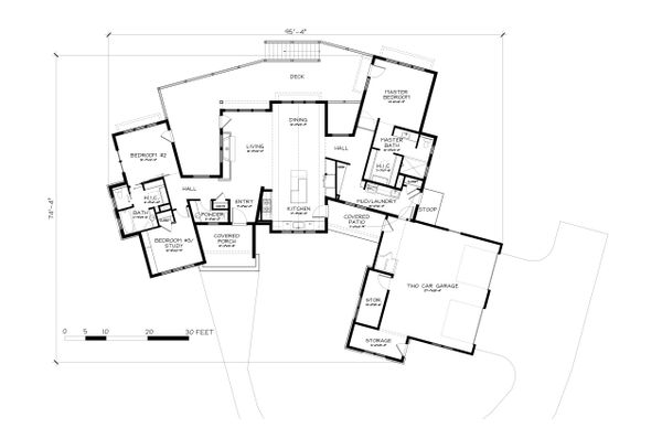 Dream House Plan - Ranch Floor Plan - Main Floor Plan #895-117
