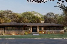 Dream House Plan - Prairie Exterior - Front Elevation Plan #923-164