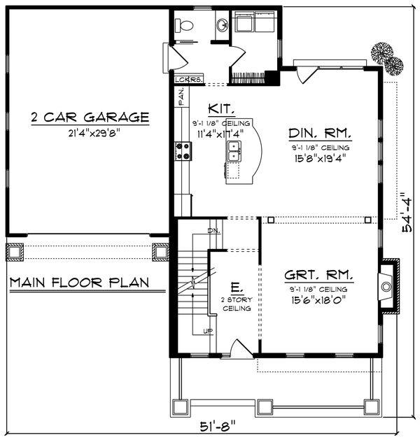 Traditional Floor Plan - Main Floor Plan Plan #70-1199