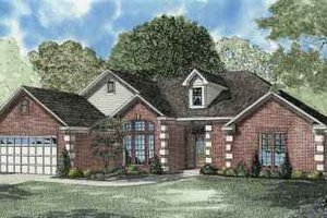 Southern Exterior - Front Elevation Plan #17-540