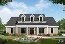 Country Exterior - Front Elevation Plan #21-445