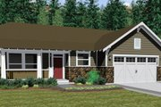 Ranch Style House Plan - 3 Beds 2.5 Baths 1625 Sq/Ft Plan #126-143 Exterior - Other Elevation