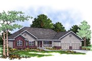 Traditional Style House Plan - 3 Beds 2.5 Baths 1926 Sq/Ft Plan #70-243 Exterior - Front Elevation