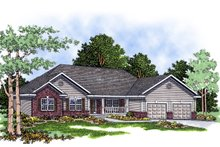 Traditional Exterior - Front Elevation Plan #70-243