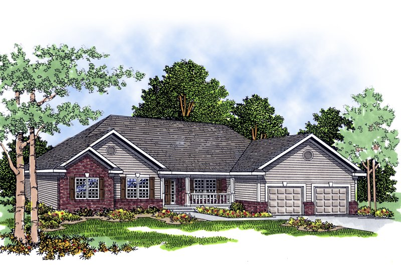 Traditional Exterior - Front Elevation Plan #70-243 - Houseplans.com