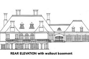 European Style House Plan - 4 Beds 3.5 Baths 5130 Sq/Ft Plan #429-43 Exterior - Rear Elevation