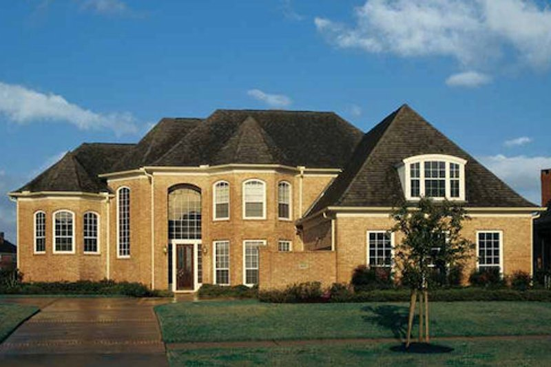 European Style House Plan - 4 Beds 3.5 Baths 3863 Sq/Ft Plan #20-1173 Exterior - Front Elevation