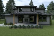 Contemporary Style House Plan - 3 Beds 2.5 Baths 2665 Sq/Ft Plan #1070-18 Exterior - Rear Elevation