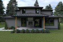 House Plan Design - Contemporary Exterior - Rear Elevation Plan #1070-18