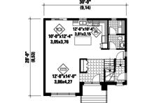 Contemporary Floor Plan - Main Floor Plan Plan #25-4278
