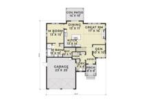 Ranch Floor Plan - Main Floor Plan Plan #1070-28