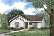 Traditional Style House Plan - 3 Beds 1 Baths 930 Sq/Ft Plan #17-106 Exterior - Front Elevation