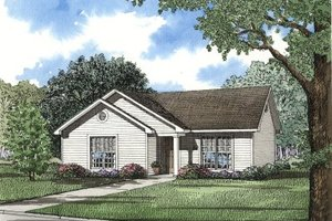 Traditional Exterior - Front Elevation Plan #17-106