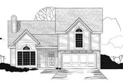 Traditional Style House Plan - 3 Beds 2 Baths 1611 Sq/Ft Plan #67-116 Exterior - Front Elevation