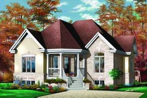 European Exterior - Front Elevation Plan #23-326