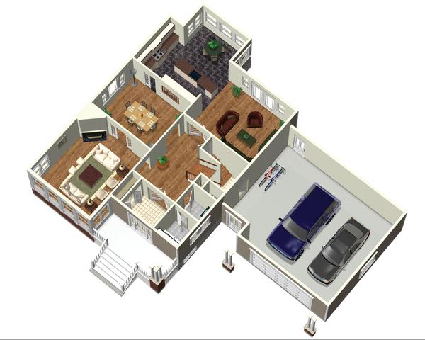 Country Floor Plan - Main Floor Plan Plan #25-4688