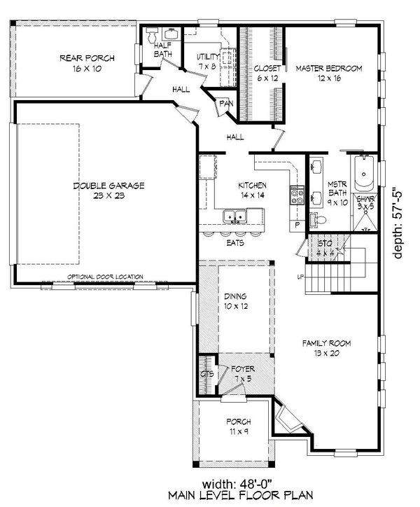 Country Floor Plan - Main Floor Plan Plan #932-263