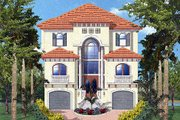 Mediterranean Style House Plan - 4 Beds 3 Baths 3763 Sq/Ft Plan #27-218 Exterior - Other Elevation