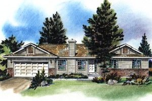 Ranch Exterior - Front Elevation Plan #18-169