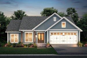 Dream House Plan - Farmhouse Exterior - Front Elevation Plan #430-217