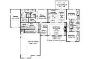 Country Style House Plan - 3 Beds 2.5 Baths 2216 Sq/Ft Plan #21-395 Floor Plan - Main Floor