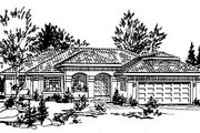 European Style House Plan - 2 Beds 2 Baths 1573 Sq/Ft Plan #18-147 Exterior - Front Elevation