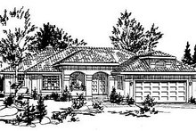 European Exterior - Front Elevation Plan #18-147