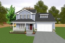 House Plan Design - Traditional Exterior - Front Elevation Plan #20-2104