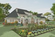 Craftsman Style House Plan - 4 Beds 5 Baths 4162 Sq/Ft Plan #917-41 Exterior - Rear Elevation