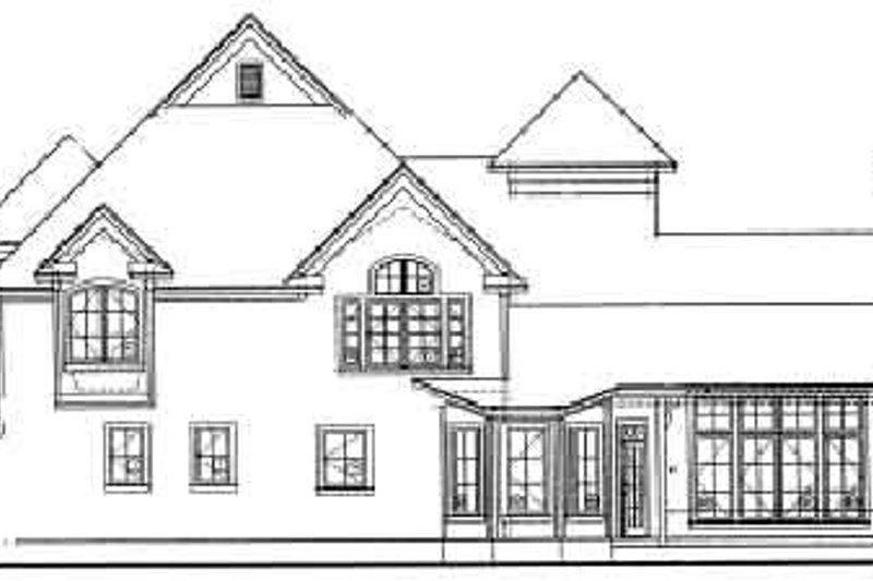 European Exterior - Rear Elevation Plan #20-921 - Houseplans.com