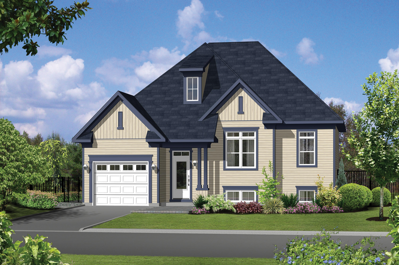 Traditional Style House Plan - 2 Beds 1 Baths 997 Sq/Ft Plan #25-4626