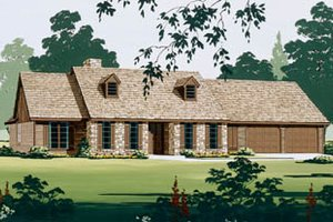 Architectural House Design - Traditional Exterior - Front Elevation Plan #45-130