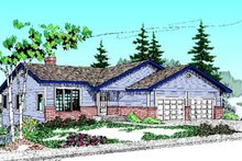House Plan Design - Traditional Exterior - Front Elevation Plan #60-180