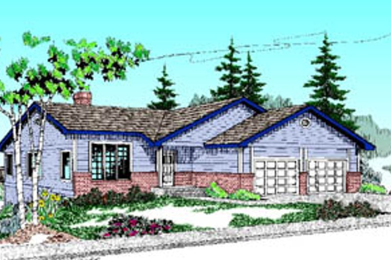 Traditional Exterior - Front Elevation Plan #60-180 - Houseplans.com