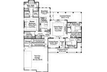 Country Floor Plan - Main Floor Plan Plan #21-385
