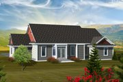 Ranch Style House Plan - 2 Beds 2 Baths 1683 Sq/Ft Plan #70-1112 Exterior - Rear Elevation