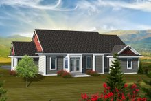Dream House Plan - Ranch Exterior - Rear Elevation Plan #70-1112