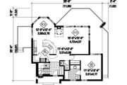 Country Style House Plan - 1 Beds 1 Baths 1050 Sq/Ft Plan #25-4406 Floor Plan - Main Floor Plan