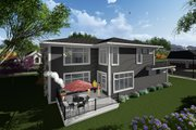 Prairie Style House Plan - 3 Beds 2.5 Baths 2943 Sq/Ft Plan #70-1283 Exterior - Rear Elevation
