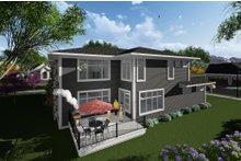 Dream House Plan - Prairie Exterior - Rear Elevation Plan #70-1283