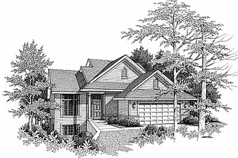 Traditional Exterior - Front Elevation Plan #70-166