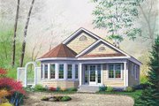 Cottage Style House Plan - 2 Beds 1 Baths 1069 Sq/Ft Plan #23-181 Exterior - Front Elevation