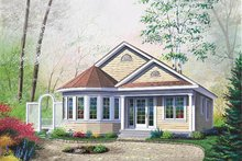 Cottage Exterior - Front Elevation Plan #23-181
