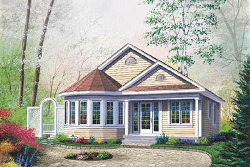Cottage Exterior - Front Elevation Plan #23-181