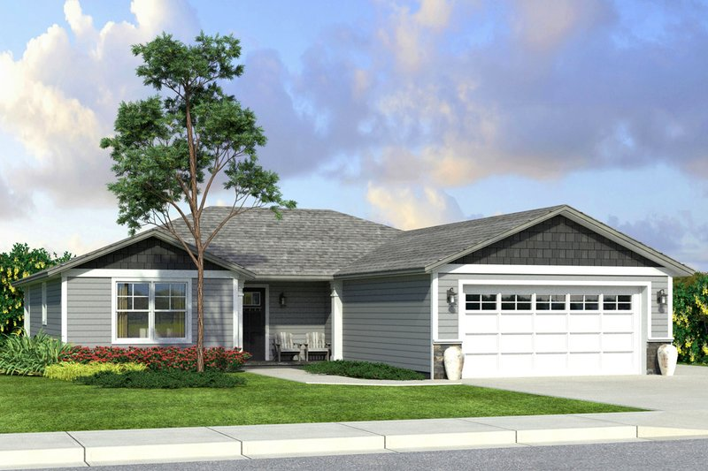 Home Plan - Traditional Exterior - Front Elevation Plan #124-1009