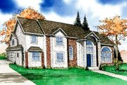 Traditional Style House Plan - 3 Beds 3.5 Baths 2342 Sq/Ft Plan #405-125 Exterior - Front Elevation