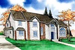 Traditional Exterior - Front Elevation Plan #405-125